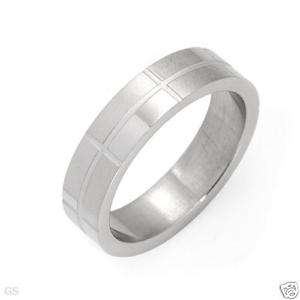 BEST QUALITY BRICK DESIGN 6MM 316L STAINLESS STEEL RING