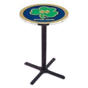 42 Notre Dame Shamrock Bar Height Pub Table   Cross Legs