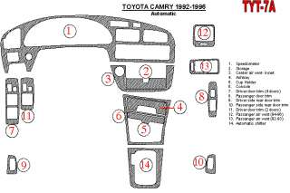 Toyota Camry Carbon Fiber Dash Kit Trim Parts