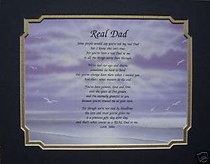 REAL DAD PERSONALIZED POEM GIFT IDEA FOR STEP DAD