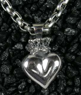 King Baby Studio Large 3D Crowned Heart Necklace CHAIN