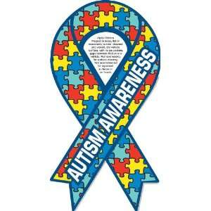 Autism Awareness Ribbon Car Magnet 4 x 8