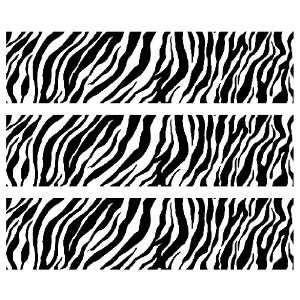 Safari Zebra Print Edible Cake Border Decoration