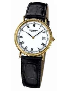 Raymond Weil Tradition Mens 5514 1 Leather Roman Numeral Watch