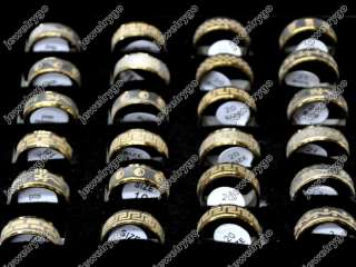Wholesale Mix Lots 36 Golden stainless steel Rings