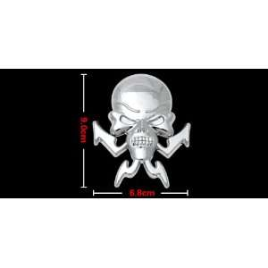 Amico Graphic Skull Decal Car & Truck Sticker Silvery