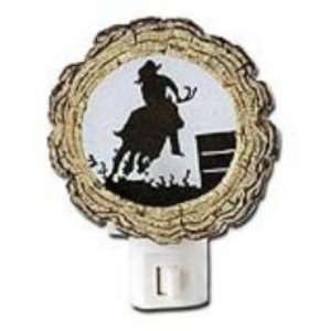 Rodeo COWBOY log NIGHTLIGHT Western Barrel Racer