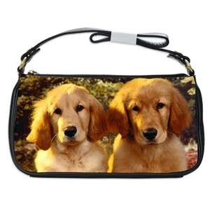 Golden Retriever Dog Puppy Puppies #11 Shoulder Clutch Bag
