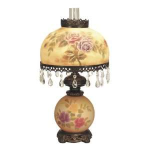 Virginia Rose Table Lamp, Antique Golden Sand and Blown Glass Shade