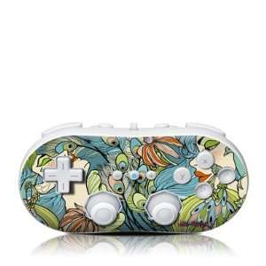 Peacock Feathers Design Skin Decal Sticker for the Wii