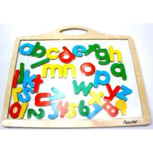 Magnetic Wooden Board With Alphabet Letters & Numbers Toys & Games