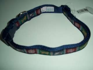 DOUGLAS PAQUETTE NYLON DOG COLLAR MEDIUM COUNTRY WINTER