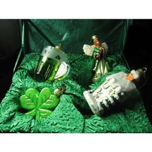 Kurt Adler Noble Gems Irish Ornament 4/Set