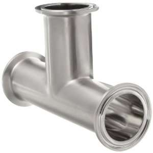 Parker Sanitary Tube Fitting, 316L Stainless Steel, Tee, 2 Tube OD