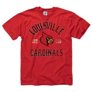 Louisville Cardinals Red Trademark T Shirt  Sports