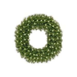 Norwood Fir Wreath with Clear Lights   4 Foot