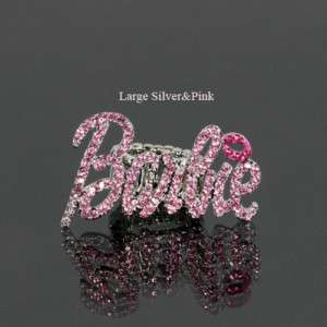 Iced Out NICKI MINAJ BARBIE RING in 4 Colors NWT