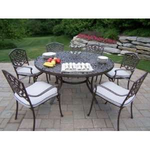 Oakland Living Mississippi Cast Aluminum 7pc Dining Set