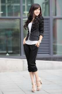 New Fashion Women Slim fit Business Puff Sleeves Suit Blazer Jacket
