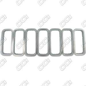 05 06 07 JEEP LIBERTY CHROME GRILLE INSERT OVERLAY
