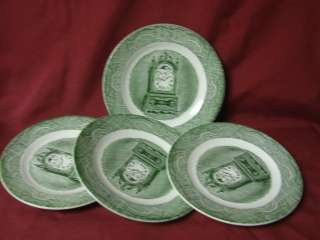 USA, China dinnerware The Old Curiosity shop, Green, Set 4 Bread Plate