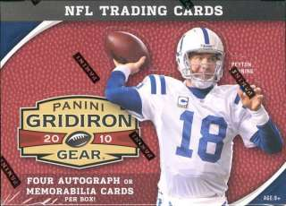 2010 PANINI GRIDIRON GEAR FOOTBALL HOBBY BOX BLOWOUT CARDS
