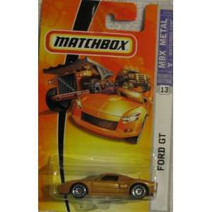 Matchbox 2007 164 Scale Gold Ford GT Die Cast Car #13 Toys & Games