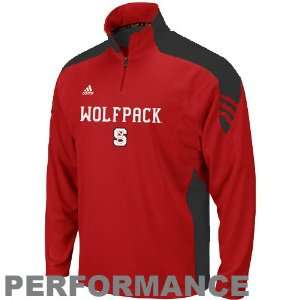 adidas North Carolina State Wolfpack Red Coaches Quarter