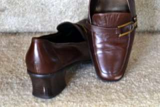 AK Anne Klein iFlex Womens DK Brown Low Heel Shoes (Size 9 M)