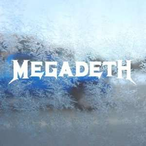MEGADETH ROCK BAND White Decal Car Window Laptop White