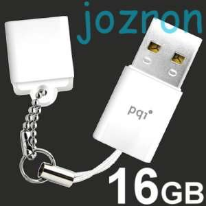 PQI U819L 16GB 16G USB Flash Pen Drive Stick Disk White