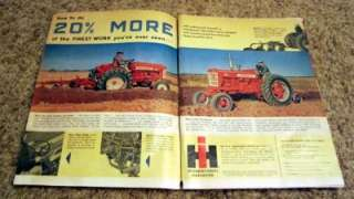 1957 McCormick Farmall 450 & International 350 Tractor Original Color