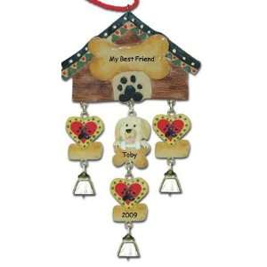 Yellow Lab Dog Christmas Ornament
