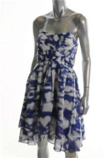 Jessica Simpson NEW Blue Versatile Dress Pattern Ruched 12
