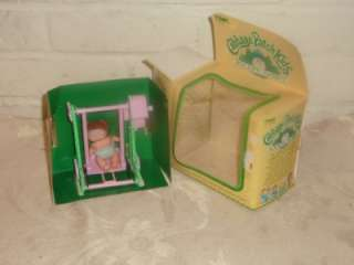 Cabbage Patch Kids Rocking Babies CPK 2 DOLL in SWING Tomy 1983 in