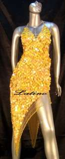 LATIN SALSA (BALLROOM) COMPETITION DRESS SIZE M (VL16)