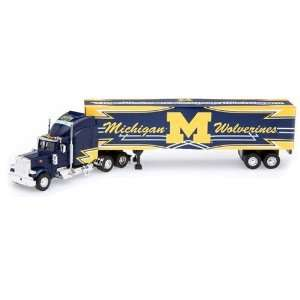 Michigan Wolverines Die Cast Collectible Tractor Trailer