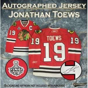 Jonathan Toews Autographed/Hand Signed Jersey Dark Pro