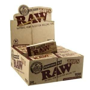 RAW Rolling Paper PERFORATED Tips (10 booklets of 50ct) Baby