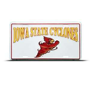 Iowa State Cyclone Metal College License Plate Wall Sign