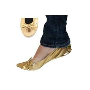 FootzyRolls Rollable Ballet Flats   Sequin Sparkle Toe   Gold Select