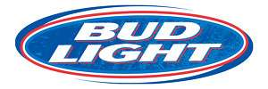BUD LIGHT 2 Cornhole Game Decal Sticker 18w FULL COLOR