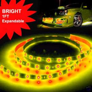 1ft Yellow LED Strip Rope Lights Expandable Flexible