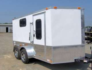 7x12 2 v 14 ft Finished interior enclosed motorcycle cargo trailer