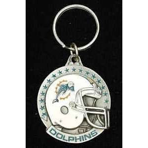 Miami Dolphins Team Helmet Key Ring (Set of 2) Sports