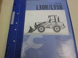 Volvo L30B L35B Wheel Loader Service Manual