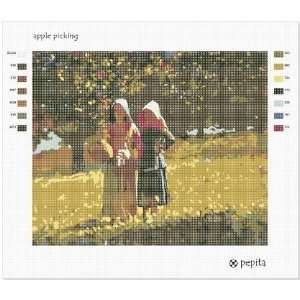 Apple Picking Needlepoint Canvas Arts, Crafts & Sewing
