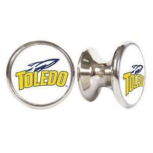 Toledo Rockets NCAA Stainless Steel Cabinet Knobs / Drawer Pulls (2