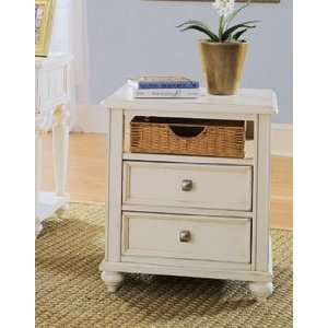 Drew Camden Antique White Side Table   920 915