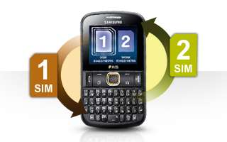 Samsung Chat222 (Black) Dual Sim Fully Unlocked with
